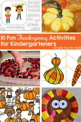 10 Fun Thanksgiving Activities for Kindergarteners