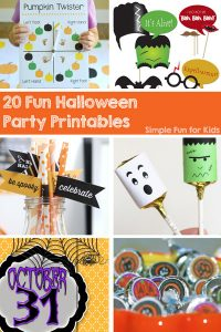 Are you hosting a Halloween party this year? Are you running out of time and need last-minute ideas? Check out these 20 Fun Halloween Party Printables for everything you need!