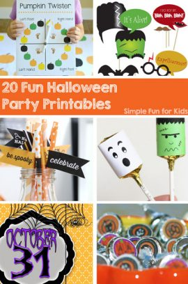 20 Fun Halloween Party Printables
