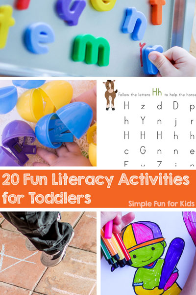 20 Fun Literacy Activities for Toddlers