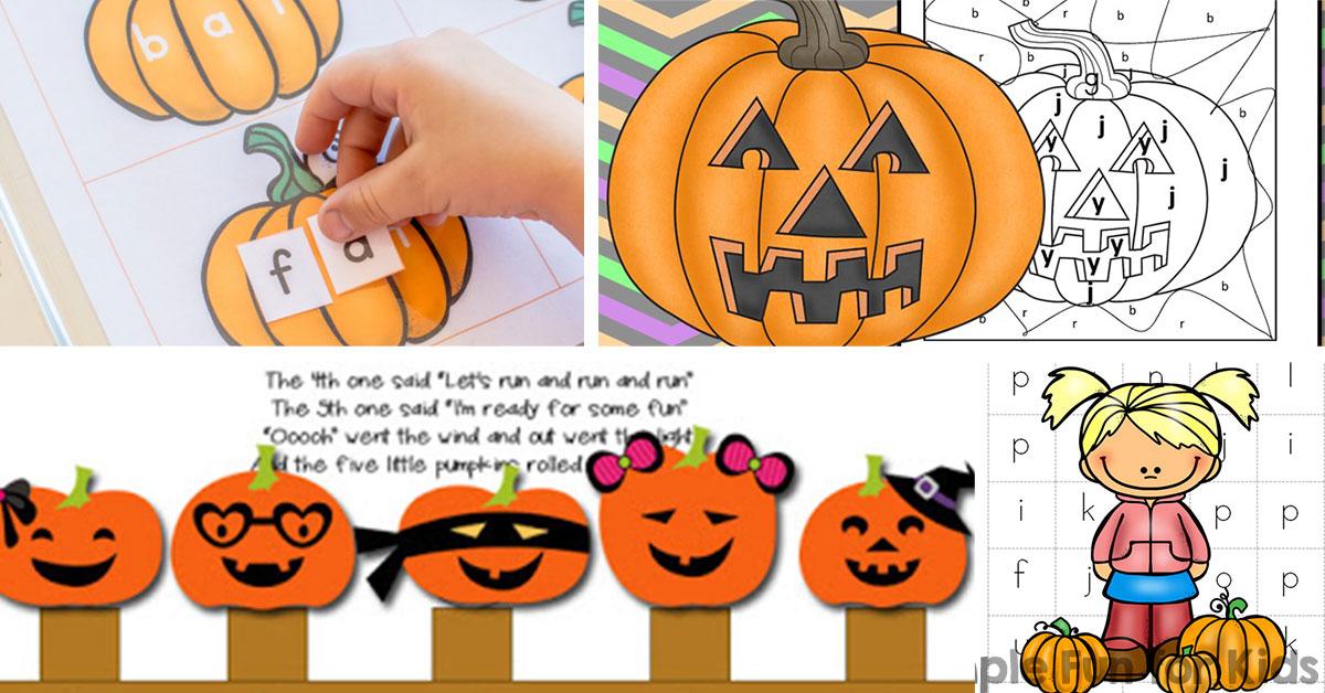 20 Fun Pumpkin Printables For Preschoolers