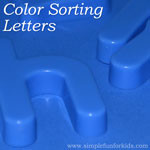 An introduction to letters and a color review for toddlers and preschoolers.