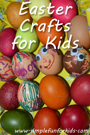 A selection of Easter crafts for kids from Simple Fun for Kids!
