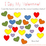 Printable I Spy Valentine's Card - not just a card, but also a game to play at home! Perfect as a last minute Valentine!