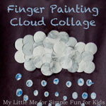 Rain Cloud Finger Paint Art for Kids