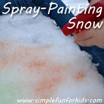 Got snow? Bundle up, get some fresh air, and have fun spray-painting snow!