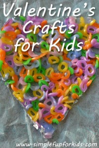 A selection of Valentine's crafts for kids from Simple Fun for Kids!