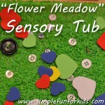 Bring a touch of spring into your house, even if it's the middle of winter: Create a Flower Meadow Sensory Tub!