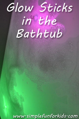 Glow Sticks in the Bathtub
