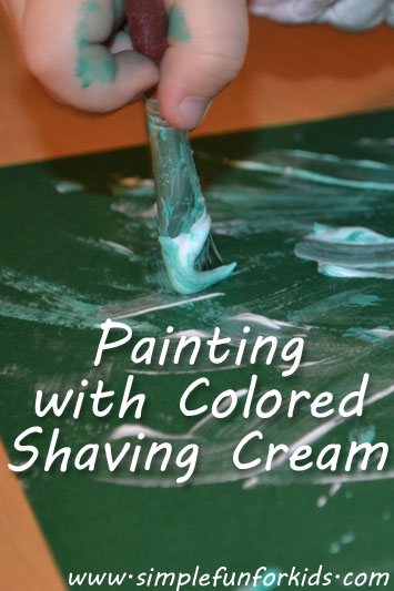 Painting with Colored Shaving Cream