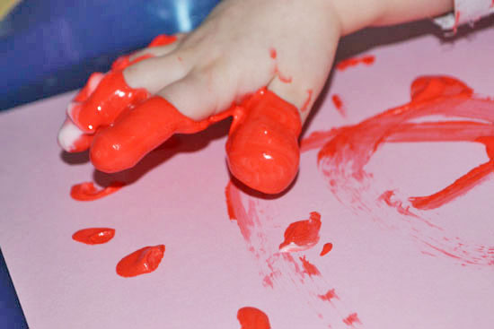Messy painting with Shaving Cream Puffy Paint - so much fun!