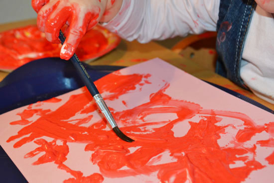 Shaving Cream Puffy Paint - Simple Fun for Kids