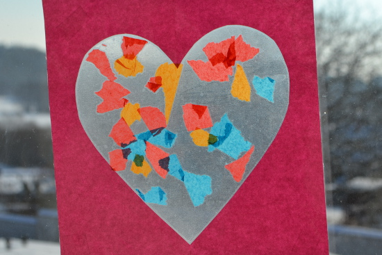 Your Toddler Can Make His Own Version Of A Stained Glass Heart For  Valentineu0027s Day (