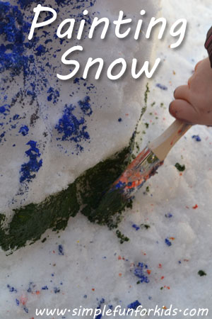 Painting snow to make winter more colorful!