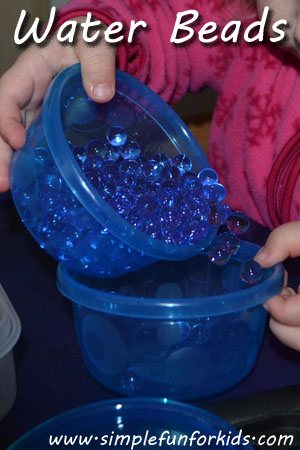 Water Beads: An inexpensive, extremely fun sensory material that your child will LOVE!