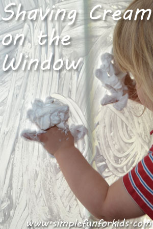 Shaving Cream on the Window
