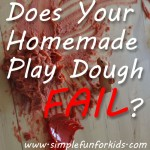 How I found out why my homemade play dough was too sticky, and what I did to fix it!