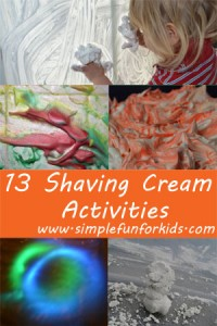 Do your kids love to play with shaving cream? Here are 13 fun shaving cream activities to try!