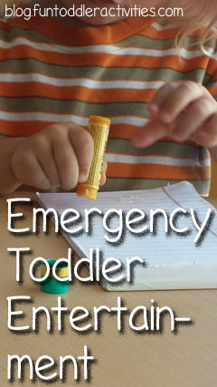 Emergency Toddler Entertainment