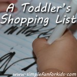 A Toddler's Shopping List