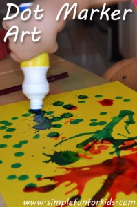 Make art with dot markers - more than just dots!