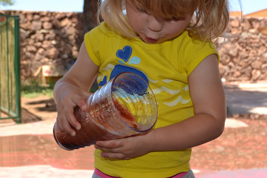 Make giant soapy eruptions - who knew that baking soda and vinegar eruptions are even better when you add a little soap?