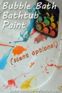 Make paint from bubble bath and paint the bathtub!