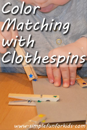 Color Matching with Clothespins