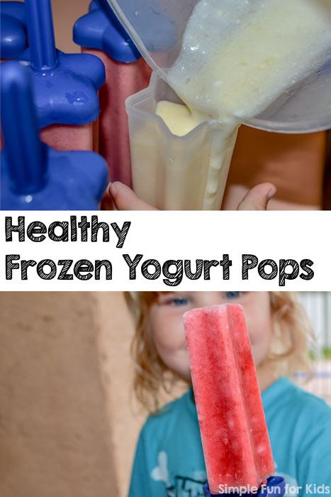 Find out how to make healthy frozen yogurt pops with your toddler!