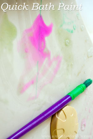 How to make quick bath paint with two ingredients!