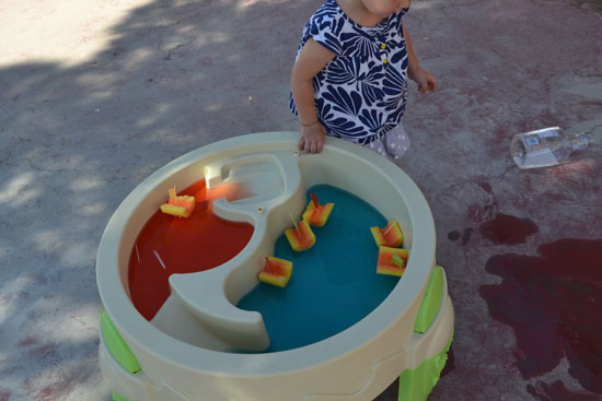 Walking in circles around the water table.
