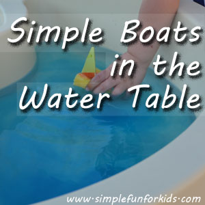 Simple Boats in the Water Table