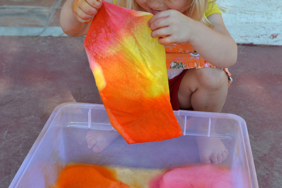 Simple Fun for Kids: Colorful Soap Foam Sensory Bin