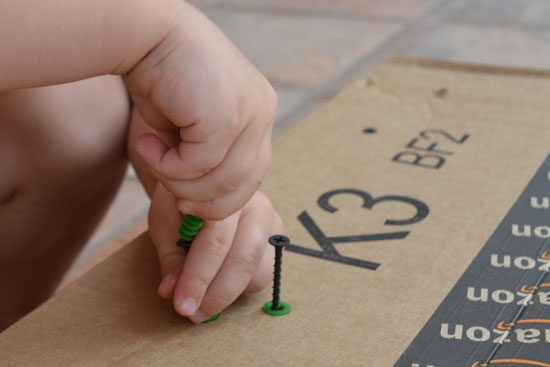 Simple Fun for Kids: Fine Motor Play with Screws and Anchors