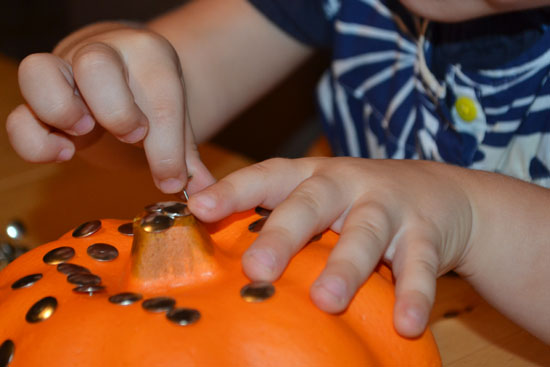 Simple Fun for Kids: Thumbtacked Pumpkins