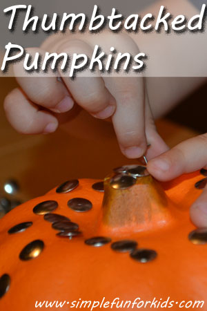 Thumbtacked Pumpkins