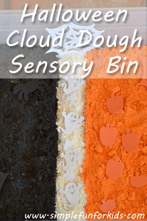 Halloween Cloud Dough Sensory Bin | Simple Fun for Kids