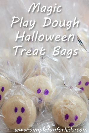 Magic Play Dough Halloween Treat Bags