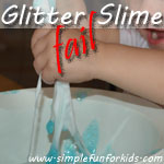 I failed at making glitter slime but E turned it into a sensory win!