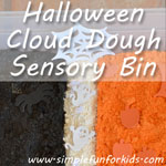 A whole box of Halloween cloud dough – awesome fun!