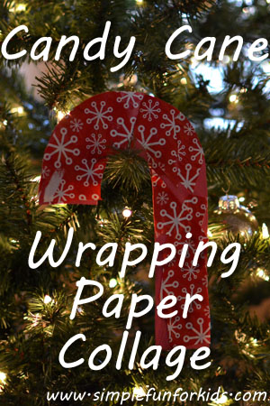 Candy Cane Wrapping Paper Collage