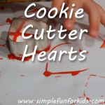 An easy technique for your toddler to make heart-shaped imprints!
