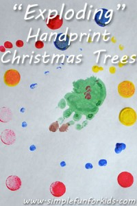 My preschooler's spin on handprint Christmas trees!
