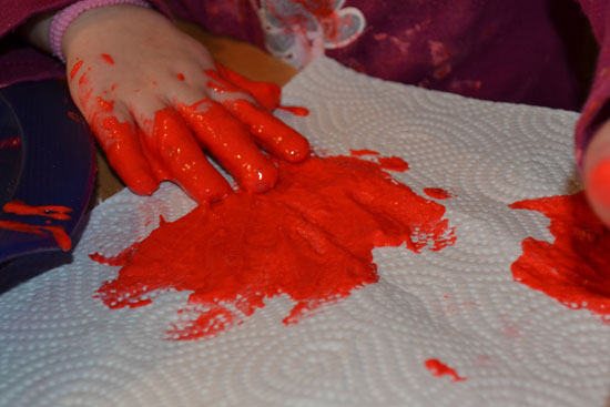 A very different kind of paint that puffs up in the microwave - must-try with your toddler!