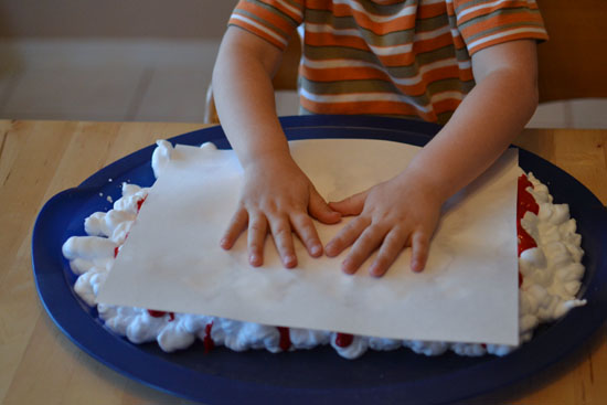 Make a simple paper candy canes craft that smells delicious!