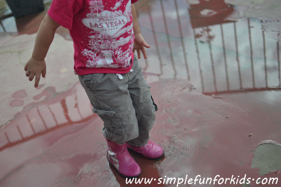 Nothing but water and some feet - fun with watery footprints!