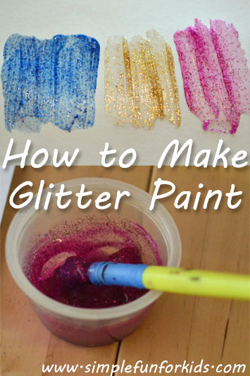 How to Make Glitter Paint