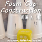 Foam Cup Construction with a Die : Roll to decide which cup to use next!