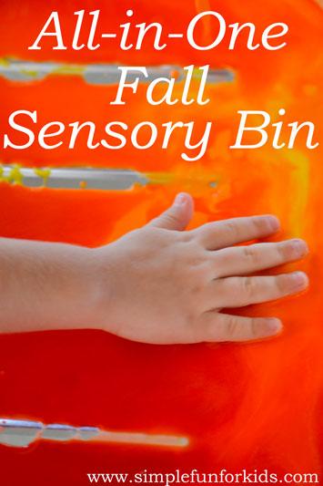 All-in-One Fall Sensory Bin