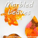 Marbled Leaves: Yet another variation on the shaving cream marbling technique - my favorite yet!